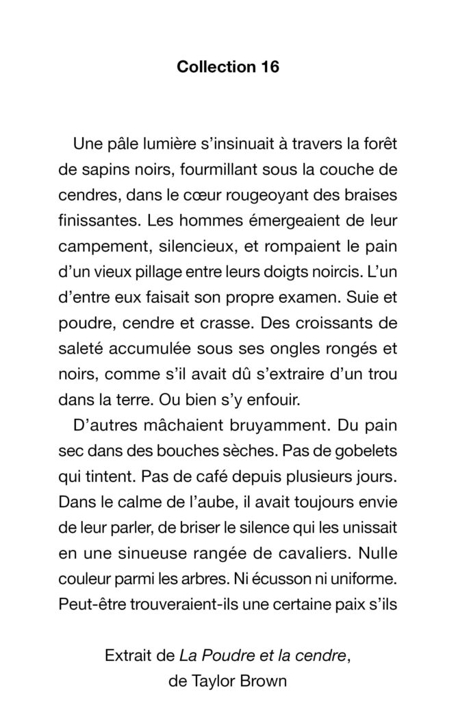 Page d'exemple collection 16