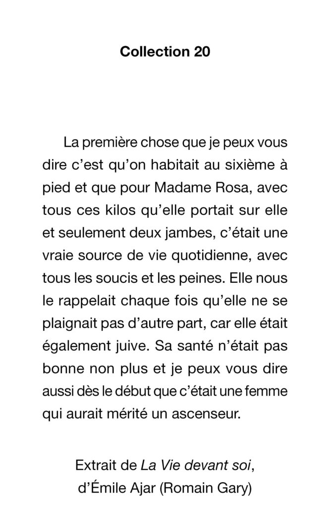 Page d'exemple collection 18-19